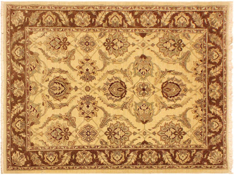 "A02294, 5' 0"" X  7' 0"",Transitional                  ,5' x 7',Natural,BROWN,Hand-knotted                  ,Pakistan   ,100% Wool  ,Rectangle  ,652671143687"