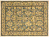 "A02301, 4' 8"" X  7' 0"",Transitional                  ,5' x 7',Tan,TEAL,Hand-knotted                  ,Pakistan   ,100% Wool  ,Rectangle  ,652671143748"