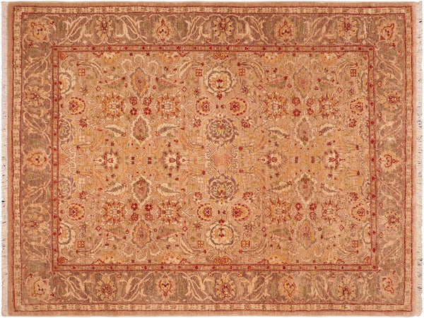 "A02303, 5' 6"" X  6' 7"",Traditional                   ,5' x 7',Tan,LT. BROWN,Hand-knotted                  ,Pakistan   ,100% Wool  ,Rectangle  ,652671143762"