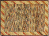 "A02341, 3' 4"" X  4' 8"",Modern                        ,3' x 5',Blue,TAN,Hand-knotted                  ,Pakistan   ,100% Wool  ,Rectangle  ,652671144134"