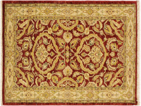 "A02380, 3' 0"" X  4'11"",Traditional                   ,3' x 5',Red,GOLD,Hand-knotted                  ,Pakistan   ,100% Wool  ,Rectangle  ,652671144523"