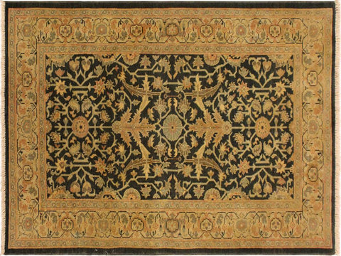 "A02382, 3' 2"" X  5' 1"",Transitional                  ,3' x 5',Green,TAN,Hand-knotted                  ,Pakistan   ,100% Wool  ,Rectangle  ,652671144547"