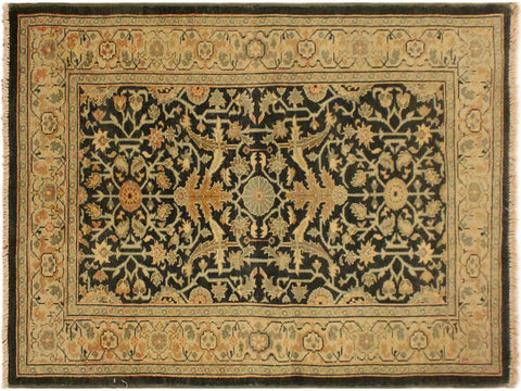 "A02384, 3' 1"" X  4'10"",Transitional                  ,3' x 5',Grey,GREEN,Hand-knotted                  ,Pakistan   ,100% Wool  ,Rectangle  ,652671144561"