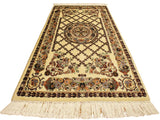 "A02548, 2' 7"" X  4' 3"",Traditional                   ,3' x 4',Natural,BLUE,Hand-knotted                  ,Pakistan   ,100% Wool  ,Rectangle  ,652671146183"