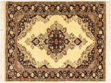 "A02568, 2' 7"" X  4' 2"",Traditional                   ,3' x 4',Natural,BLUE,Hand-knotted                  ,Pakistan   ,100% Wool  ,Rectangle  ,652671146381"
