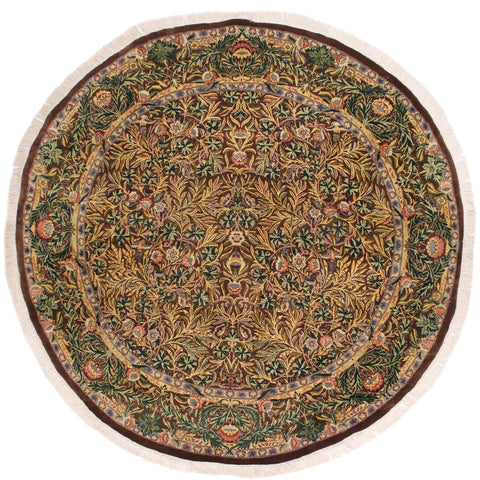 "A02634, 6' 2"" X  6' 3"",Traditional                   ,6' x 6',Brown,GRAY,Hand-knotted                  ,Pakistan   ,100% Wool  ,Round      ,652671147029"