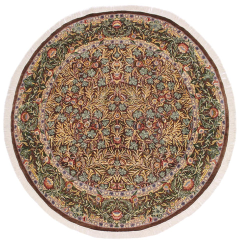 "A02636, 8' 0"" X  8' 4"",Traditional                   ,8' x 8',Brown,GRAY,Hand-knotted                  ,Pakistan   ,100% Wool  ,Round      ,652671147043"