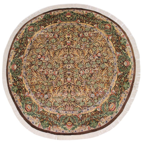 "A02641, 8' 3"" X  8' 3"",Traditional                   ,8' x 8',Brown,GRAY,Hand-knotted                  ,Pakistan   ,100% Wool  ,Round      ,652671147098"
