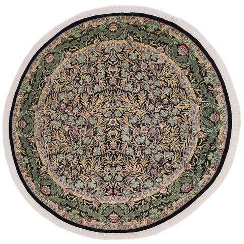 "A02663, 8' 2"" X  8' 2"",Traditional                   ,8' x 8',Black,GRAY,Hand-knotted                  ,Pakistan   ,100% Wool  ,Round      ,652671147319"