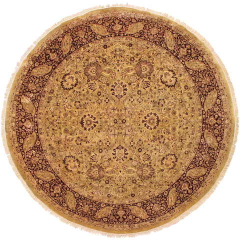 "A02699, 8' 1"" X  8' 3"",Traditional                   ,8' x 8',Gold,RED,Hand-knotted                  ,Pakistan   ,100% Wool  ,Round      ,652671147678"