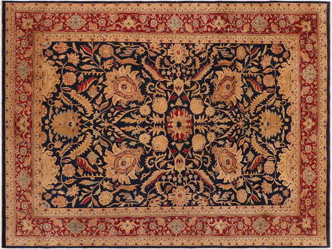 handmade Traditional Sultanabad Blue Red Hand Knotted RECTANGLE 100% WOOL area rug 10x14 Hand knotted indoor Pak Persian vegetable dyed area rug made for all rooms with high quality New Zealand wool in rich color pallet weaved by skilled artisans in traditional transitional design known for quality and affordable price. Oriental rug offered at cheap discount for any decor, with Persian weave(KPSI upto 300)