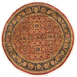 handmade Traditional Agra Tabriz Red Blue Hand Knotted ROUND 100% WOOL area rug 10x10 Hand knotted indoor Pak Persian vegetable dyed area rug made for all rooms with high quality New Zealand wool in rich color pallet weaved by skilled artisans in traditional transitional design known for quality and affordable price. Oriental rug offered at cheap discount for any decor, with Persian weave(KPSI upto 300)