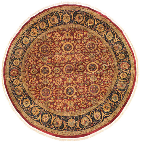 "A02713, 9'10"" X 10' 2"",Traditional                   ,10' x 10',Red,BLUE,Hand-knotted                  ,Pakistan   ,100% Wool  ,Round      ,652671147807"