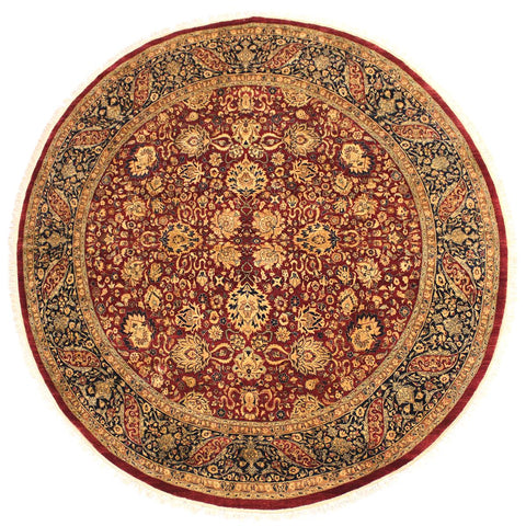 "A02729, 7'10"" X  8' 1"",Traditional                   ,8' x 8',Red,BLUE,Hand-knotted                  ,Pakistan   ,100% Wool  ,Round      ,652671147951"