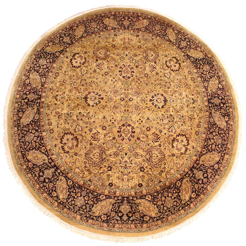 "A02735, 7'11"" X  8' 0"",Traditional                   ,8' x 8',Gold,RED,Hand-knotted                  ,Pakistan   ,100% Wool  ,Round      ,652671148019"