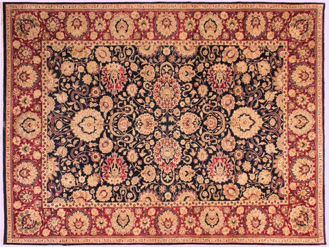 "A02749,10' 1"" X 13'10"",Traditional                   ,10' x 14',Navy,RED,Hand-knotted                  ,Pakistan   ,100% Wool  ,Rectangle  ,652671148156"