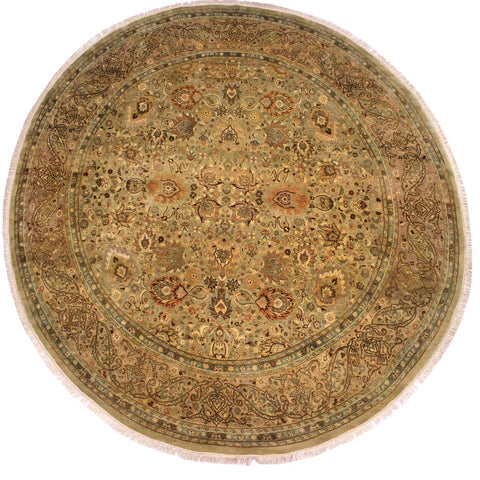 "A02752, 9'11"" X  9'11"",Traditional                   ,10' x 10',Green,TAN,Hand-knotted                  ,Pakistan   ,100% Wool  ,Round      ,652671148187"