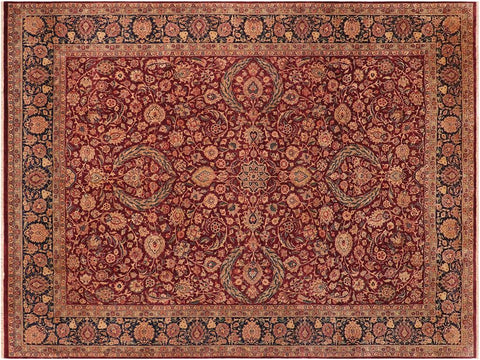 handmade Traditional Dabir Maroon Blue Hand Knotted RECTANGLE 100% WOOL area rug 10x14 Hand knotted indoor Pak Persian vegetable dyed area rug made for all rooms with high quality New Zealand wool in rich color pallet weaved by skilled artisans in traditional transitional design known for quality and affordable price. Oriental rug offered at cheap discount for any decor, with Persian weave(KPSI upto 300)