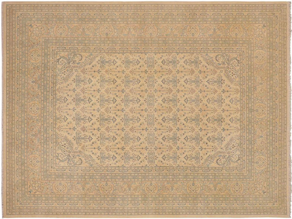 "A02789, 9' 3"" X 12' 2"",Traditional,9' x 12',Natural,ROSE,Hand-knotted                  ,Pakistan   ,100% Wool  ,Rectangle  ,652671148552"