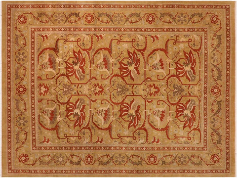"A02837,10' 0"" X 13' 8"",Traditional                   ,10' x 14',Green,RUST,Hand-knotted                  ,Pakistan   ,100% Wool  ,Rectangle  ,652671149016"