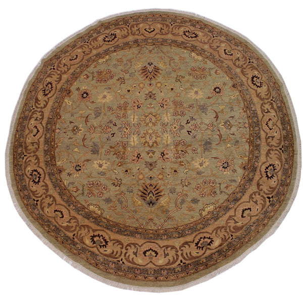 "A02839,10' 0"" X 10' 0"",Traditional                   ,10' x 10',Grey,TAN,Hand-knotted                  ,Pakistan   ,100% Wool  ,Round      ,652671149030"