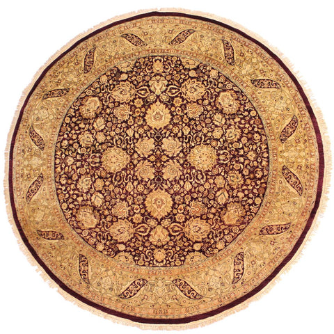 "A02893, 8' 0"" X  8' 0"",Traditional                   ,8' x 8',Red,GOLD,Hand-knotted                  ,Pakistan   ,100% Wool  ,Round      ,652671149559"
