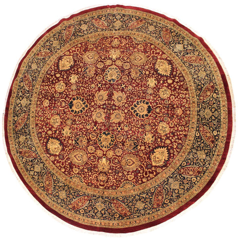 "A02897,11'10"" X 11'11"",Traditional                   ,12' x 12',Red,BLUE,Hand-knotted                  ,Pakistan   ,100% Wool  ,Round      ,652671149597"
