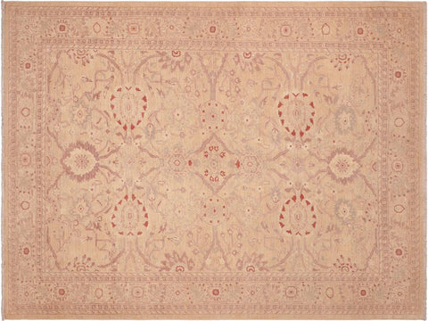 handmade Traditional Kafkaz Tan Brown Hand Knotted RECTANGLE 100% WOOL area rug 6 x 9
