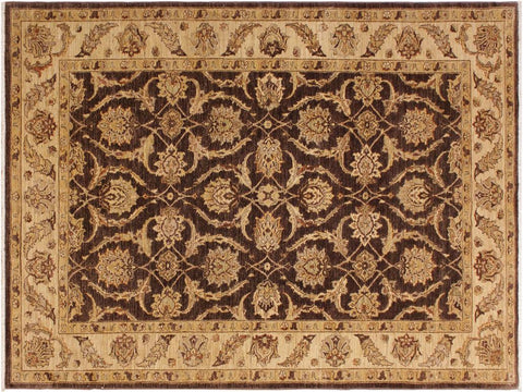 "A02952, 6' 2"" X  9' 4"",Traditional                   ,6' x 9',Brown,TAN,Hand-knotted                  ,Pakistan   ,100% Wool  ,Rectangle  ,652671150111"