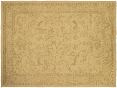 "A02982, 9' 4"" X 12' 2"",Traditional                   ,9' x 12',Tan,LT. TAN,Hand-knotted                  ,Pakistan   ,100% Wool  ,Rectangle  ,652671150418"