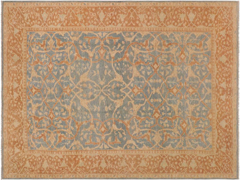 "A02986, 8'11"" X 12' 0"",Transitional                  ,9' x 12',Blue,LT. BROWN,Hand-knotted                  ,Pakistan   ,100% Wool  ,Rectangle  ,652671150456"