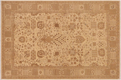 "A03011, 8'10"" X 11' 9"",Traditional                   ,9' x 12',Tan,BROWN,Hand-knotted                  ,Pakistan   ,100% Wool  ,Rectangle  ,652671150692"