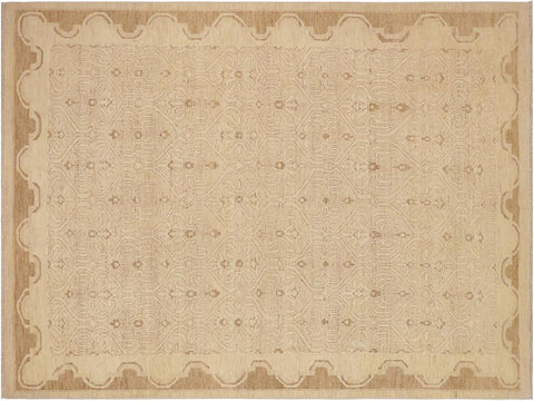 "A03019, 8' 8"" X 12' 1"",Modern     ,9' x 12',Tan,LT. BROWN,Hand-knotted                  ,Pakistan   ,100% Wool  ,Rectangle  ,652671150777"