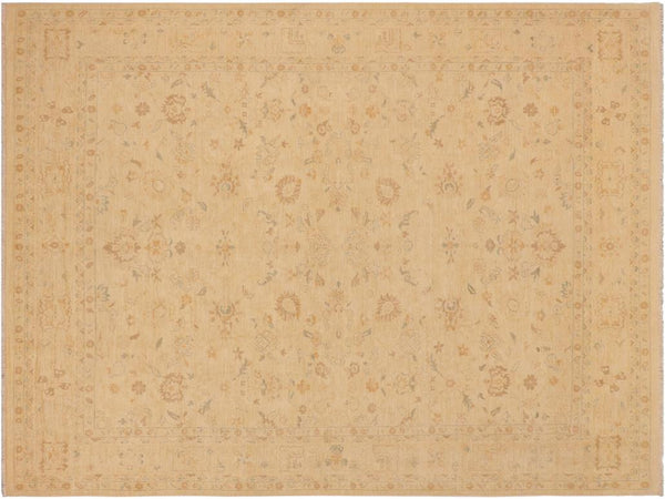 "A03032, 9' 2"" X 12' 3"",Traditional,9' x 12',Tan,LT. TAN,Hand-knotted                  ,Pakistan   ,100% Wool  ,Rectangle  ,652671150906"