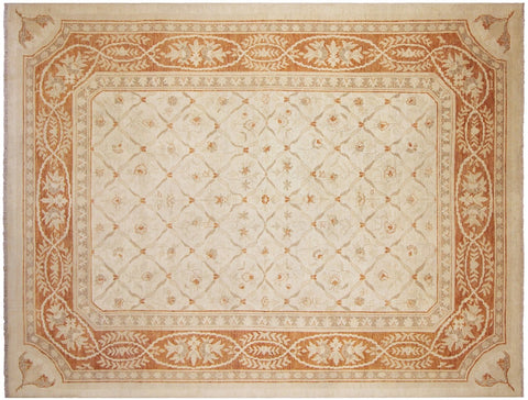 "A03038, 8'11"" X 12' 1"",Modern     ,9' x 12',Natural,RUST,Hand-knotted                  ,Pakistan   ,100% Wool  ,Rectangle  ,652671150968"