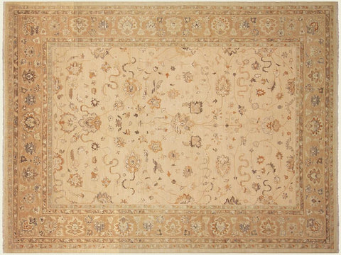 "A03051, 9' 3"" X 11' 6"",Traditional,9' x 12',Tan,LT. BROWN,Hand-knotted                  ,Pakistan   ,100% Wool  ,Rectangle  ,652671151088"