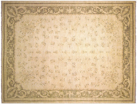 "A03056, 9' 2"" X 11'10"",Modern     ,9' x 12',Natural,OLIVE GREEN,Hand-knotted                  ,Pakistan   ,100% Wool  ,Rectangle  ,652671151132"