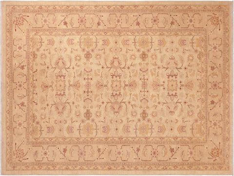 handmade Transitional Kafkaz Beige Tan Hand Knotted RECTANGLE 100% WOOL area rug 6 x 9