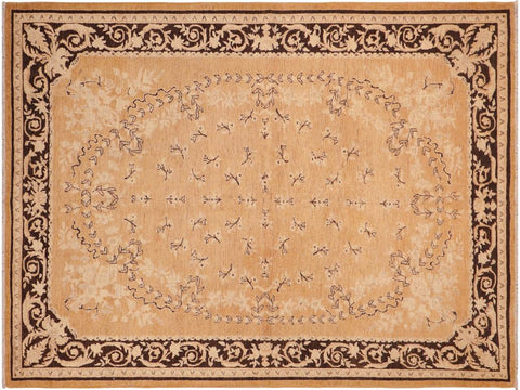 handmade Traditional Kafkaz Rose Charcoal Hand Knotted RECTANGLE 100% WOOL area rug 6 x 9