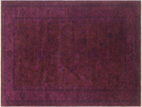 "A03205, 6' 1"" X  9' 1"",Over Dyed  ,6' x 9',Purple,BLUE,Hand-knotted                  ,Pakistan   ,100% Wool  ,Rectangle  ,652671152597"