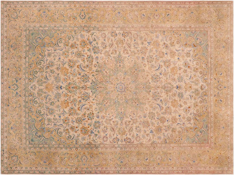 "A03221, 9' 9"" X 12'11"",Vintage                       ,10' x 13',Natural,TAN,Hand-knotted                  ,Pakistan   ,100% Wool  ,Rectangle  ,652671152719"