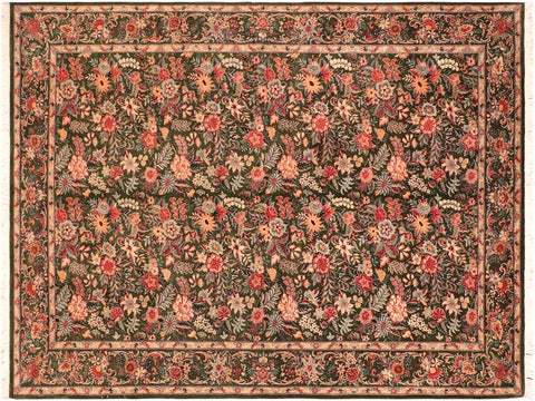 "A03262, 6' 0"" X  9' 3"",Traditional                   ,6' x 9',Green,GRAY,Hand-knotted                  ,Pakistan   ,100% Wool  ,Rectangle  ,652671153044"