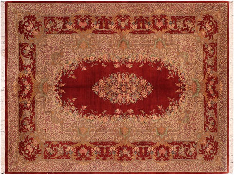 "A03271, 6' 2"" X  9' 7"",Traditional                   ,6' x 10',Red,TAN,Hand-knotted                  ,Pakistan   ,100% Wool  ,Rectangle  ,652671153136"