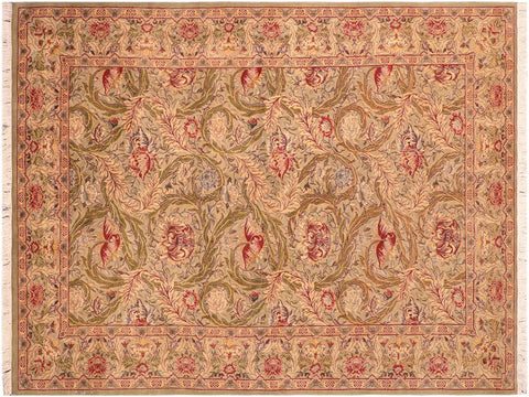 "A03280, 6' 1"" X  9' 5"",Traditional                   ,6' x 9',Green,RED,Hand-knotted                  ,Pakistan   ,100% Wool  ,Rectangle  ,652671153228"