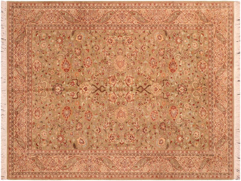 "A03286, 6' 0"" X  9' 3"",Traditional                   ,6' x 9',Green,TAN,Hand-knotted                  ,Pakistan   ,100% Wool  ,Rectangle  ,652671153280"