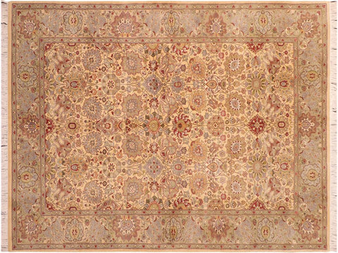 "A03288, 6' 0"" X  8'10"",Traditional                   ,6' x 9',Gold,LT. GREEN,Hand-knotted                  ,Pakistan   ,100% Wool  ,Rectangle  ,652671153303"