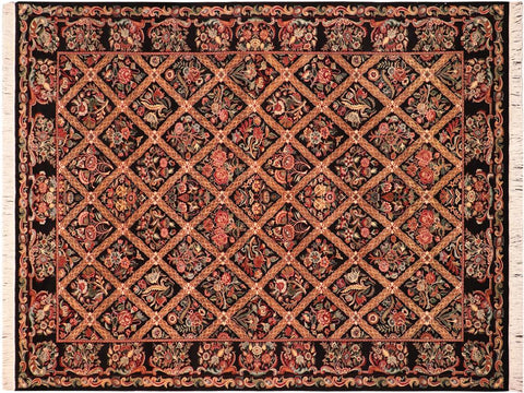 "A03304, 6' 1"" X  9' 3"",Traditional                   ,6' x 9',Black,RED,Hand-knotted                  ,Pakistan   ,100% Wool  ,Rectangle  ,652671153440"