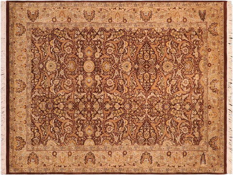 "A03305, 5'11"" X  9' 0"",Traditional                   ,6' x 9',Brown,TAN,Hand-knotted                  ,Pakistan   ,100% Wool  ,Rectangle  ,652671153457"