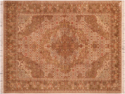 "A03307, 5'11"" X  8' 6"",Traditional                   ,6' x 9',Tan,LT. GREEN,Hand-knotted                  ,Pakistan   ,100% Wool  ,Rectangle  ,652671153471"
