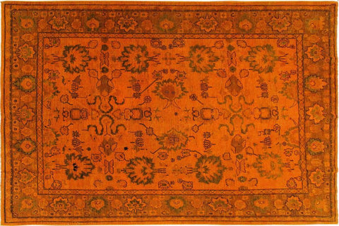 "A03351, 8' 5"" X  9' 8"",Over Dyed                     ,8' x 10',Orange,BURNTORANGE,Hand-knotted                  ,Pakistan   ,100% Wool  ,Rectangle  ,652671153914"